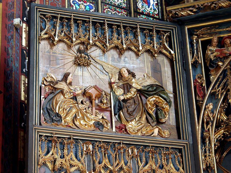 Wit Stwosz, Ołtarz mariacki - zwiastowanie