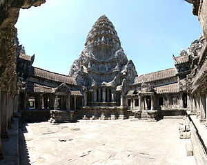 Panorama of the Upper Gallery, Angkor Wat