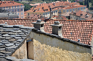 Chimneys in Corte