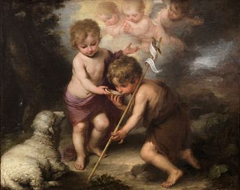 English: Infant Jesus and John the Baptist, Mu...