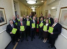 Taoiseach Enda Kenny, with his cabinet in March 2013