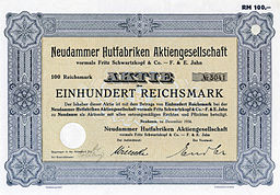 Neudammer Hutfabriken Aktiengesellschaft 1934