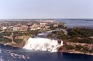 English: Niagara Falls - American Falls and Br...