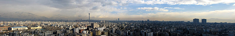 Ficheiro:Panoramic photograph of Tehran (large).jpg