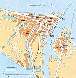 خريطة مدينة بورسعيد