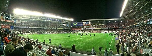 San Mamés en los momentos previos a un partido.