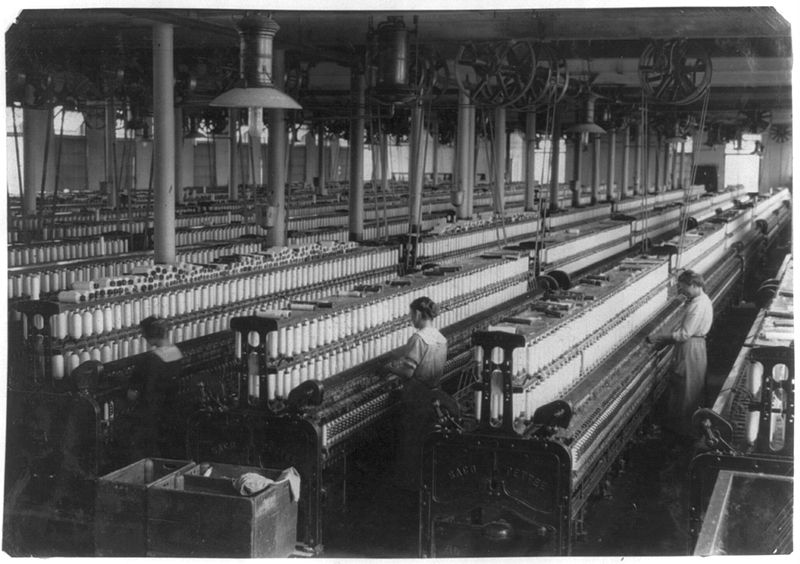 File:Spinning room in indian orchard cotton mill.jpg