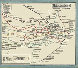 London Underground map from 1926