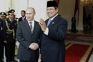 English: JAKARTA. With President of Indonesia ...