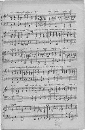 """""""Bandana Days"""" (sheet music) page 2 ..."""