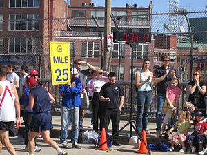 Boston marathon mile 25 marker 050418