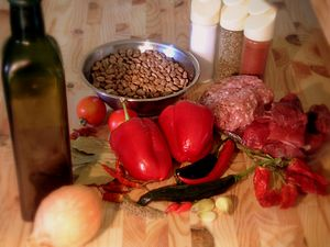 Ingredients for Chili con Carne