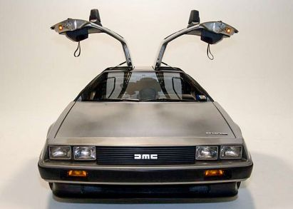 DeLorean DMC-12 Head on photo with doors open ...