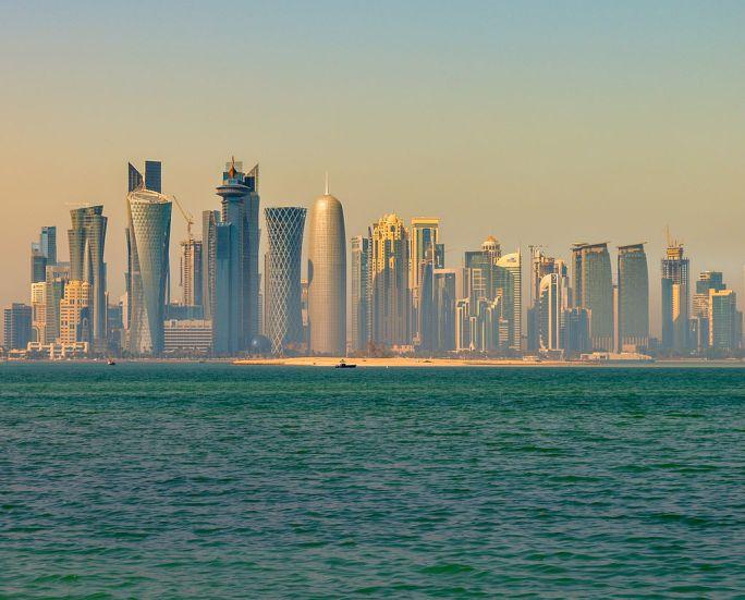 Doha skyline in the morning (12544910974)