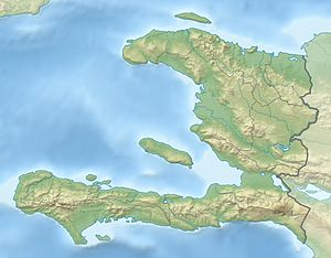 Physical Location map Haiti with departements,...