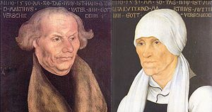 English: Portraits of Hans and Margarethe Luth...