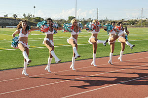 Miami Dolphins cheerleaders visit Guantanamo.