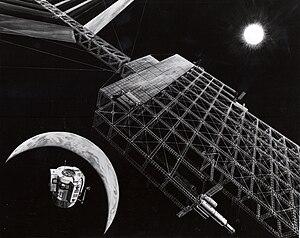 Artist's concept of Solar Power Satellite in p...