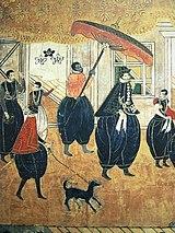 Sekelompok orang-orang Portugis dari periode Nanban, abad ke-17.