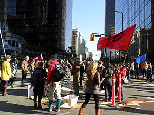 English: Occupy Vancouver protest in front of ...