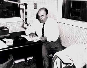 Pablo Neruda during a Library of Congress reco...