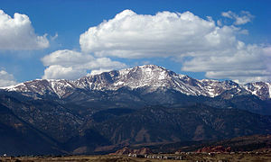 View of Pikes Peak from the University of Colo...