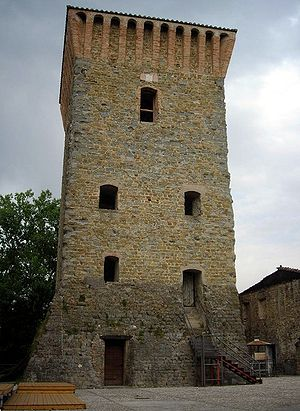 tower of Pretola, Perugia, Umbria, Italy