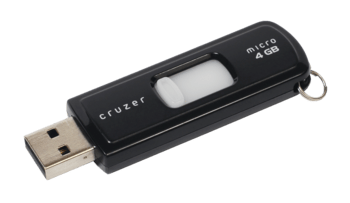 English: A Sandisk-brand USB thumb drive, SanD...