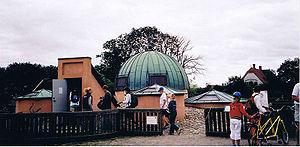 Tycho Brahe's Stjerneborg observatory on the i...