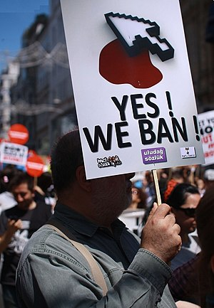 Turkey internet ban protest 2011