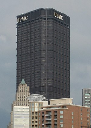 English: The U.S. Steel Tower, located in Pitt...