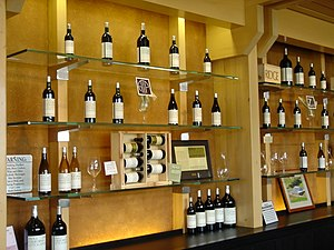 Wine tasting bar at Ridge/Lytton Springs, Sono...