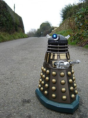 English: Alien invasion in Nercwys Pentre Bach...