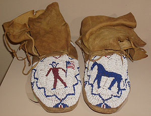 Beaded moccasins originally from the estate of...