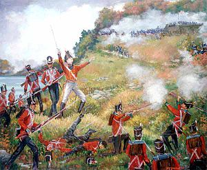 General Isaac Brock leading the charge.
