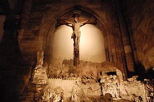 Inside Cathedrale Notre Dame in Strasbourg