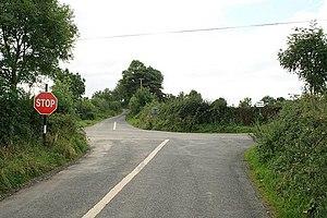 English: Cross Roads Ballinamara Cross Roads.