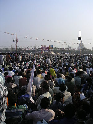 Huge rallies like this one in Kolkata are comm...