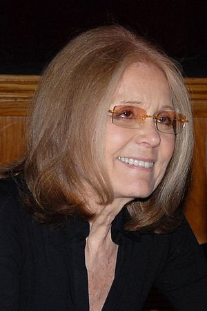 English: American feminist Gloria Steinem at B...