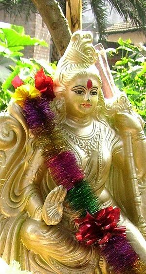 Saraswati, Hindu-goddess of learning and arts....