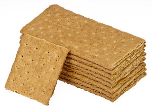 A stack of Nabisco Graham Crackers.