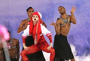 "English: Lady Gaga performing ""Bad Romanc..."