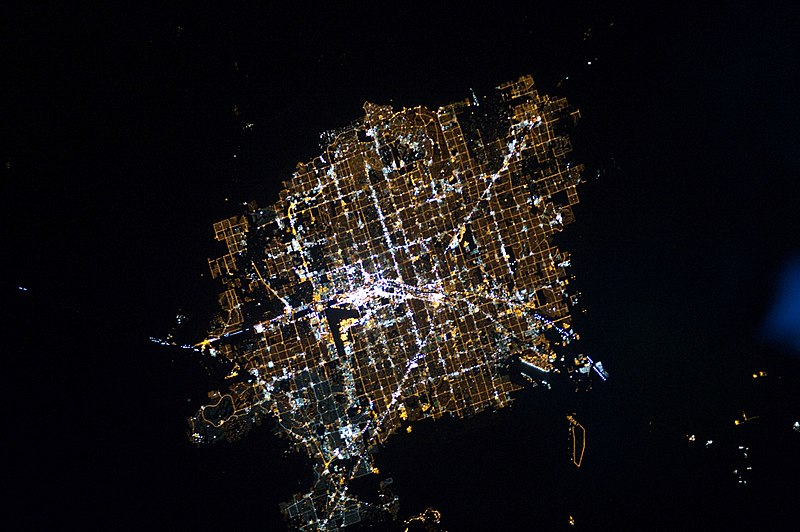 File:Las Vegas at Night.JPG
