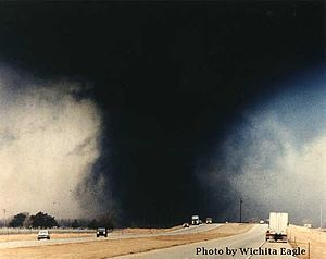 English: The Hesston, Kansas tornado of March ...