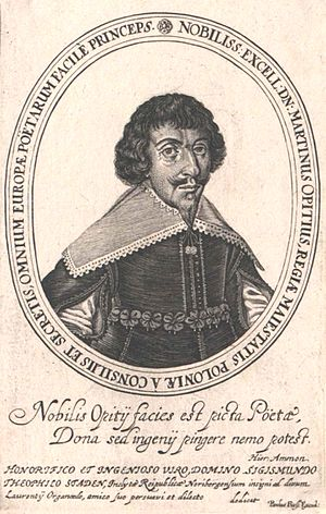 Martin Opitz, a leading German poet of its time.