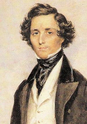 English: The Portrait of Felix Mendelssohn