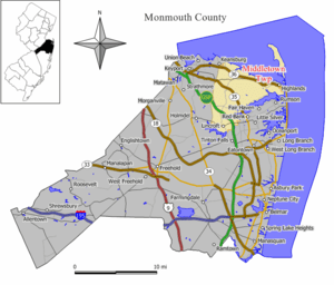 Map of Middletown Township in Monmouth County....