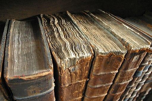 Old book bindings