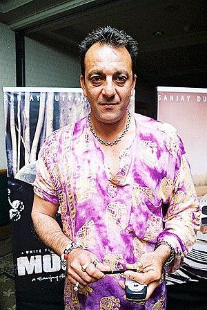 English: Sanjay dutt at Musafir press meet at ...