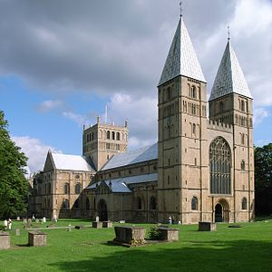 Southwell Minster - view from the north west